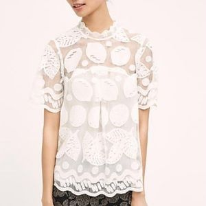 Lemon Lace Blouse | Off White